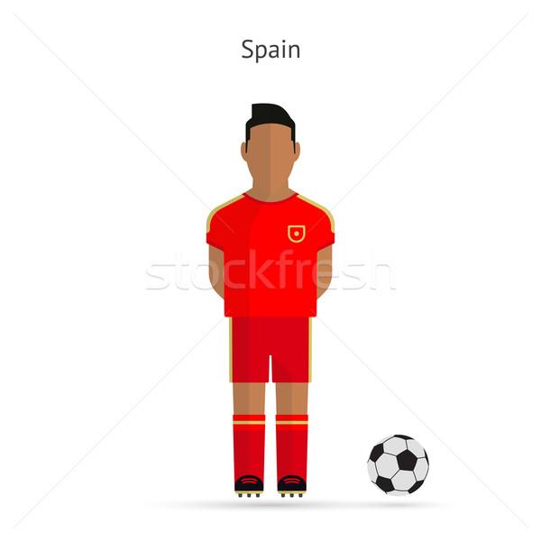 National football player. Spain soccer team uniform. Stock photo © tkacchuk