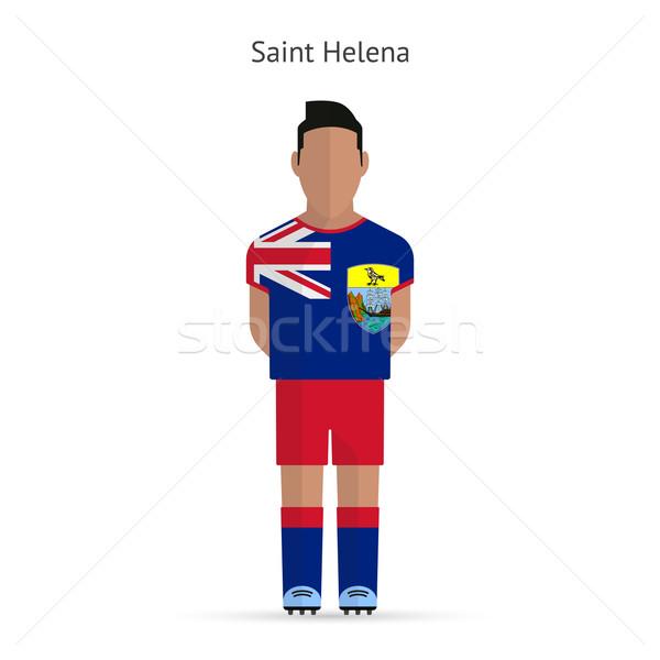 Saint Helena football player. Soccer uniform. Stock photo © tkacchuk