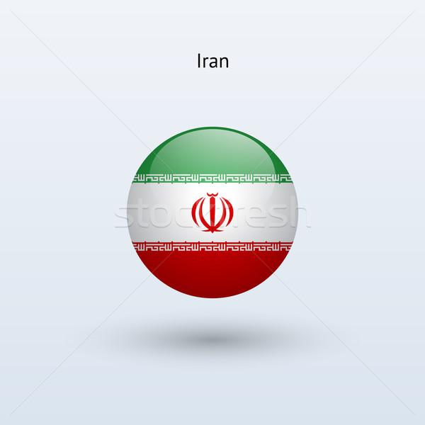 Iran round flag. Vector illustration. Stock photo © tkacchuk