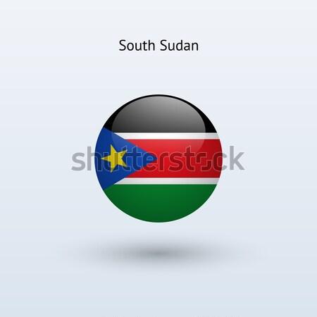 Południe Sudan banderą szary podpisania internetowych Zdjęcia stock © tkacchuk
