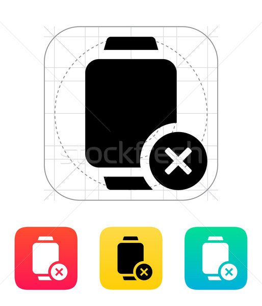 Cancel sign on smart watch icon. Stock photo © tkacchuk