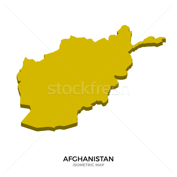 Isometric map of Afghanistan detailed vector illustration Stock photo © tkacchuk