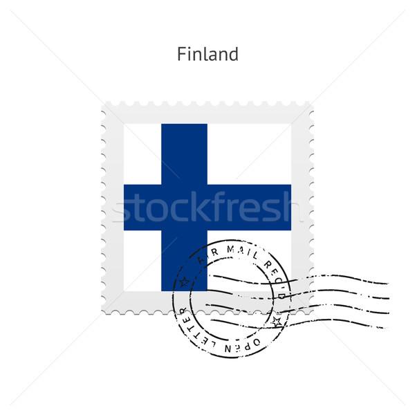 Finlandiya bayrak beyaz imzalamak mektup Stok fotoğraf © tkacchuk