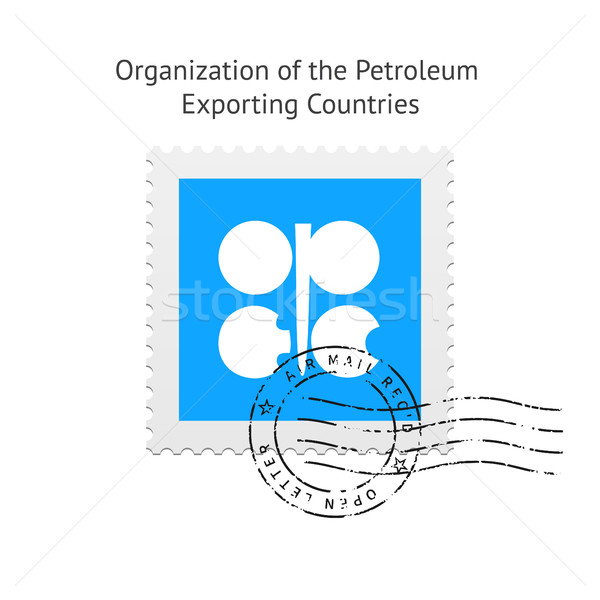 Organization of the Petroleum Exporting Countries Flag Postage Stamp. Stock photo © tkacchuk