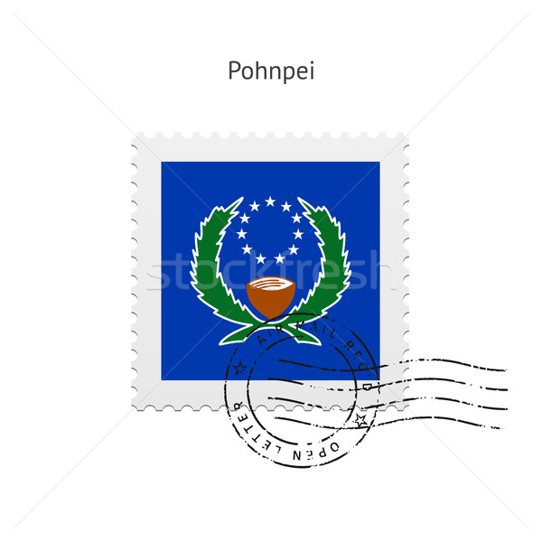 Pohnpei Flag Postage Stamp. Stock photo © tkacchuk