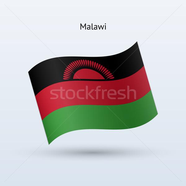 Малави флаг форме серый знак Сток-фото © tkacchuk
