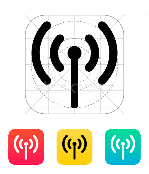 Radio antenna sending signal icon. Stock photo © tkacchuk