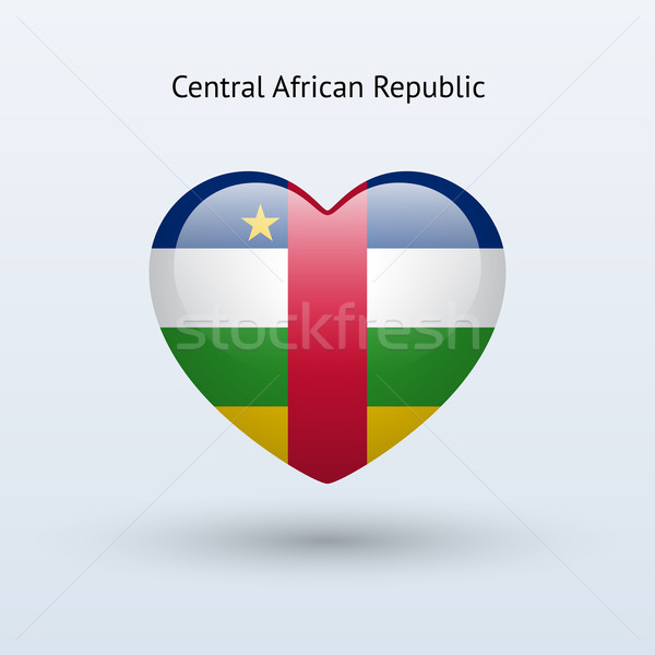 Love Central African Republic symbol. Heart flag icon. Stock photo © tkacchuk