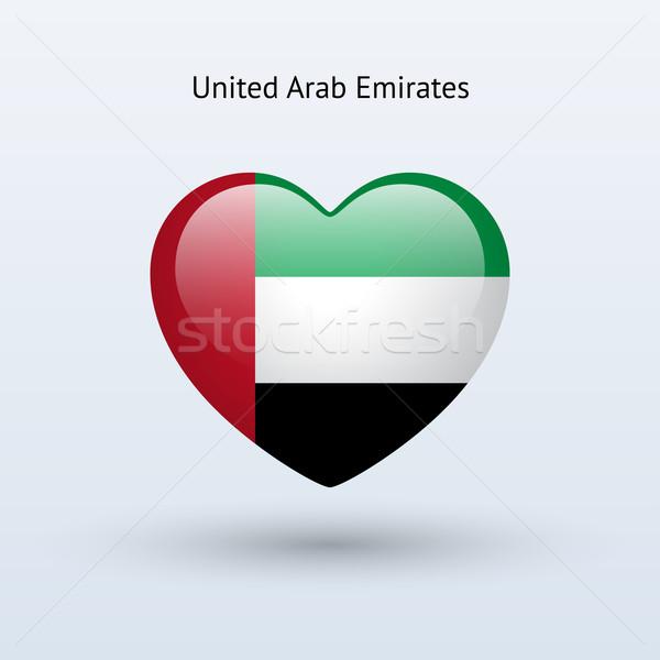 Sevmek Birleşik Arap Emirlikleri simge kalp bayrak ikon Stok fotoğraf © tkacchuk