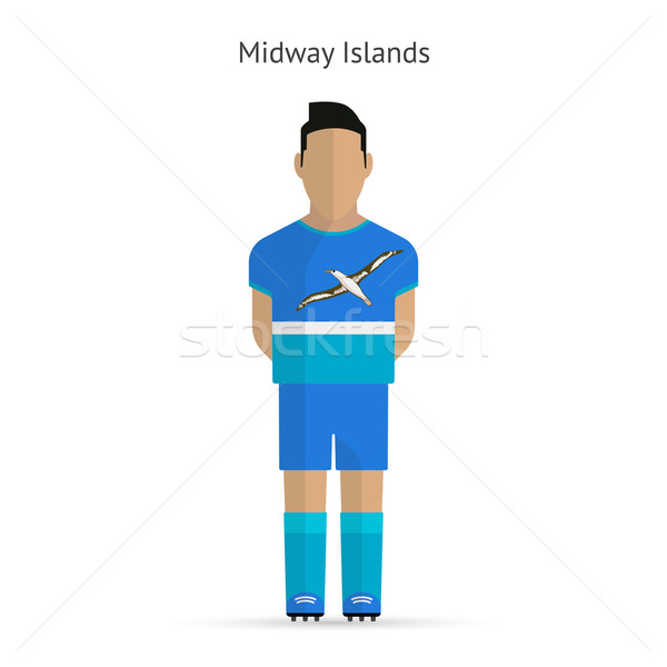 Midway Islands football player. Soccer uniform. Stock photo © tkacchuk