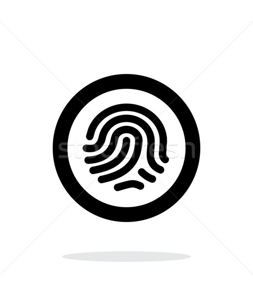 Fingerprint scanner icon on white background. Stock photo © tkacchuk