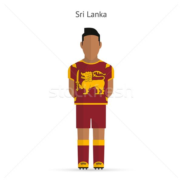 Sri Lanka calcio uniforme abstract fitness Foto d'archivio © tkacchuk