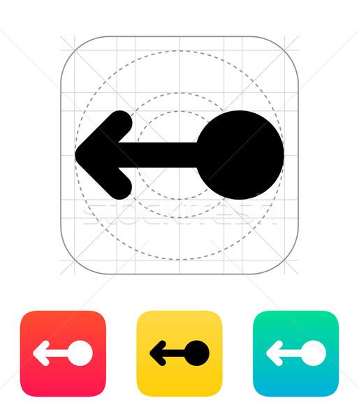 Swipe left gesture abstract icon. Stock photo © tkacchuk