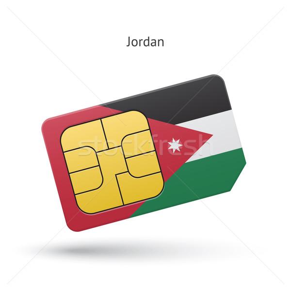 Jordânia telefone móvel cartão bandeira negócio projeto Foto stock © tkacchuk