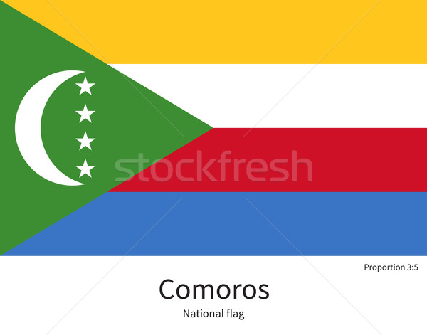 National flag of Comoros with correct proportions, element, colors Stock photo © tkacchuk