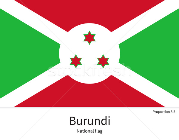 National flag of Burundi with correct proportions, element, colors Stock photo © tkacchuk