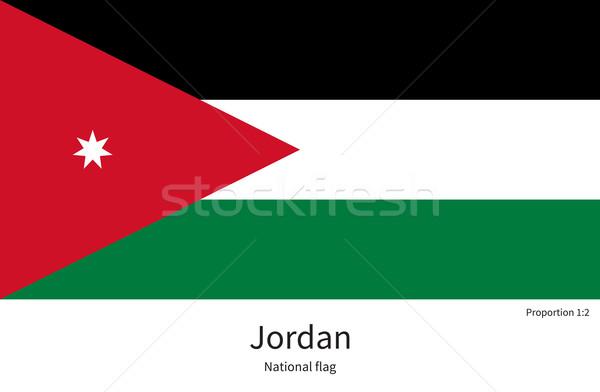 Bandiera Giordania correggere elemento colori istruzione Foto d'archivio © tkacchuk