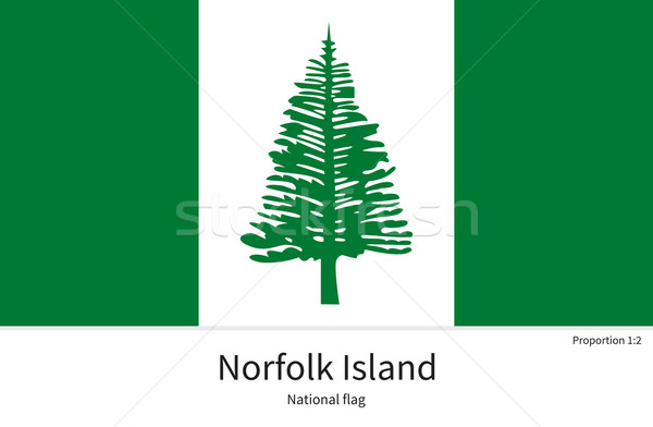 National flag of Norfolk Island with correct proportions, element, colors Stock photo © tkacchuk