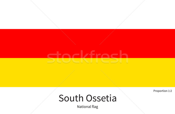 National flag of South Ossetia with correct proportions, element, colors Stock photo © tkacchuk