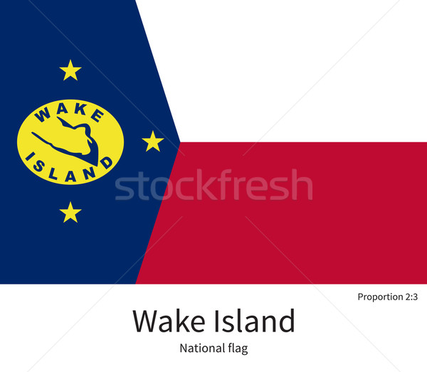 Stock photo: National flag of Wake Island with correct proportions, element, colors