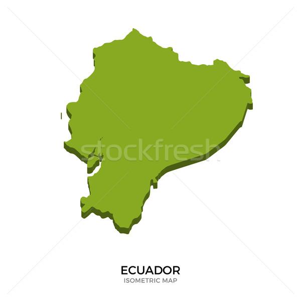 Isometrische kaart Ecuador gedetailleerd geïsoleerd 3D Stockfoto © tkacchuk