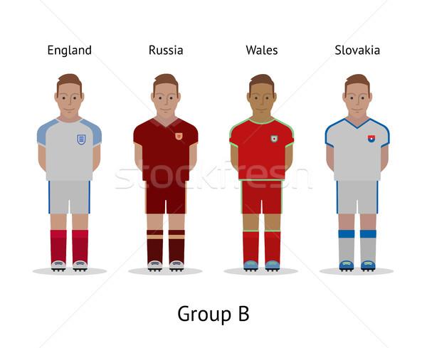 Jugadores fútbol campeonato Francia 2016 Foto stock © tkacchuk