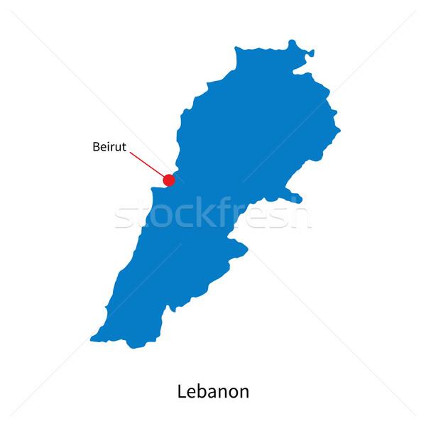 Détaillée vecteur carte Liban ville éducation Photo stock © tkacchuk