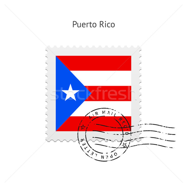 Puerto Rico Flag Postage Stamp. Stock photo © tkacchuk