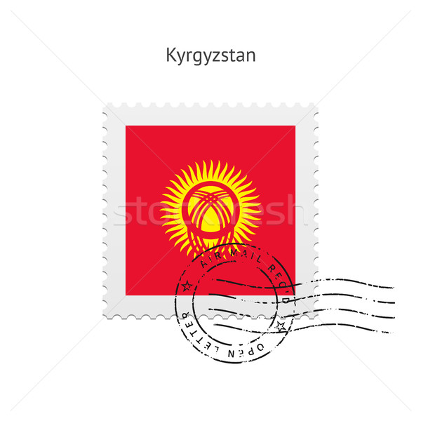 Kyrgyzstan Flag Postage Stamp. Stock photo © tkacchuk