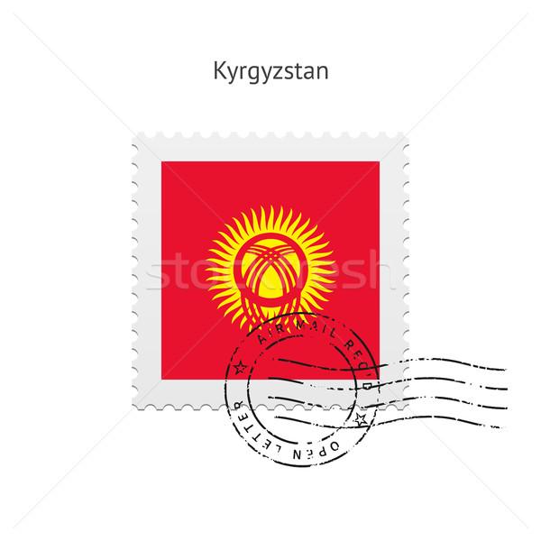 Kırgızistan bayrak beyaz imzalamak mektup Stok fotoğraf © tkacchuk