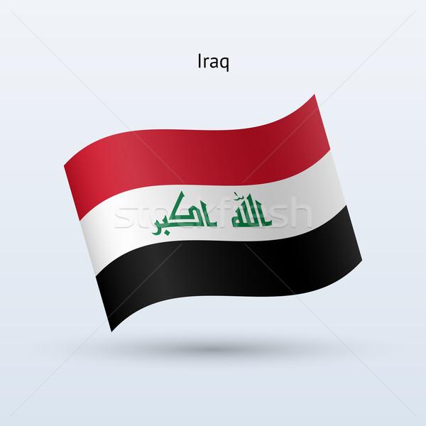 Iraq flag waving form. Vector illustration. Stock photo © tkacchuk