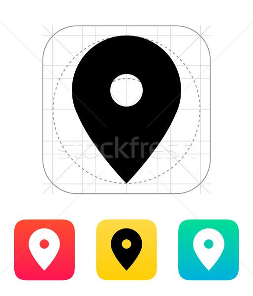 Foto stock: Mapa · pin · ícone · internet · fundo · comunicação