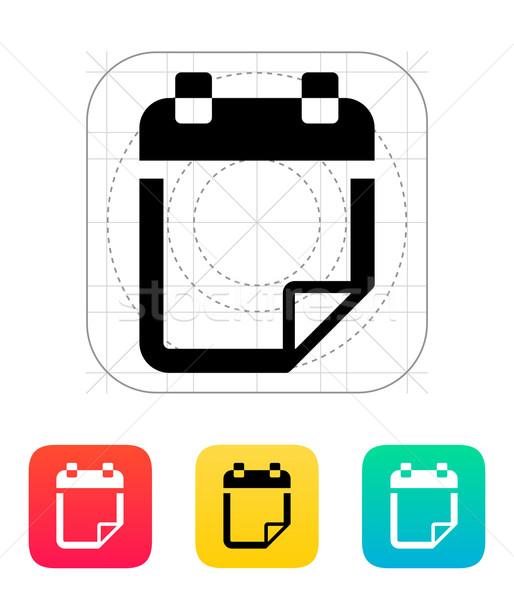 Note flip icon. Stock photo © tkacchuk