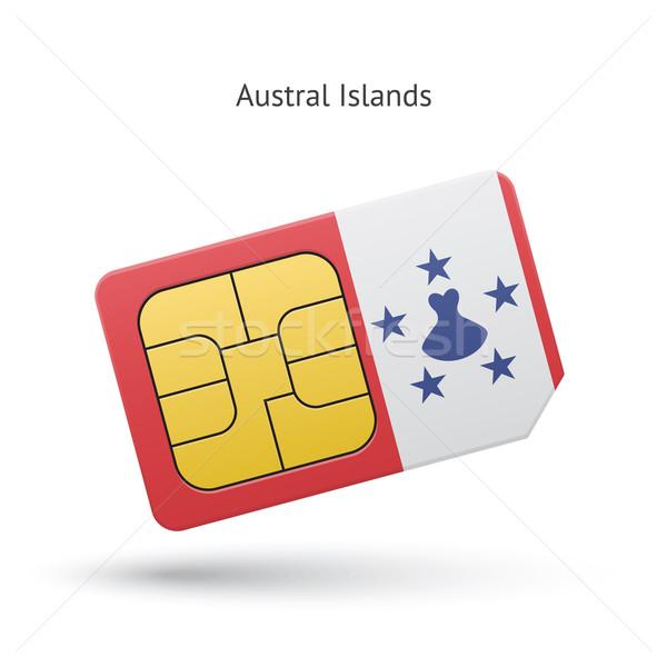 мобильного телефона карт флаг бизнеса дизайна Сток-фото © tkacchuk