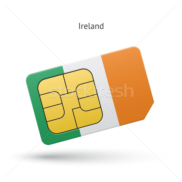Irlanda cellulare carta bandiera business design Foto d'archivio © tkacchuk