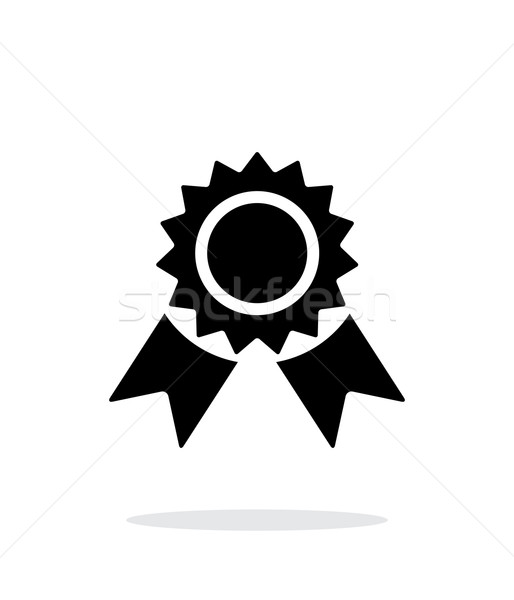 Badge simple icon on white background. Stock photo © tkacchuk