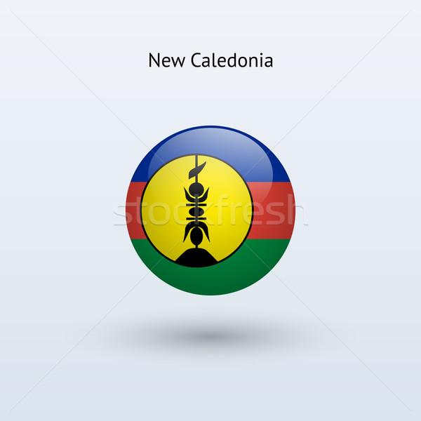 New Caledonia round flag. Vector illustration. Stock photo © tkacchuk
