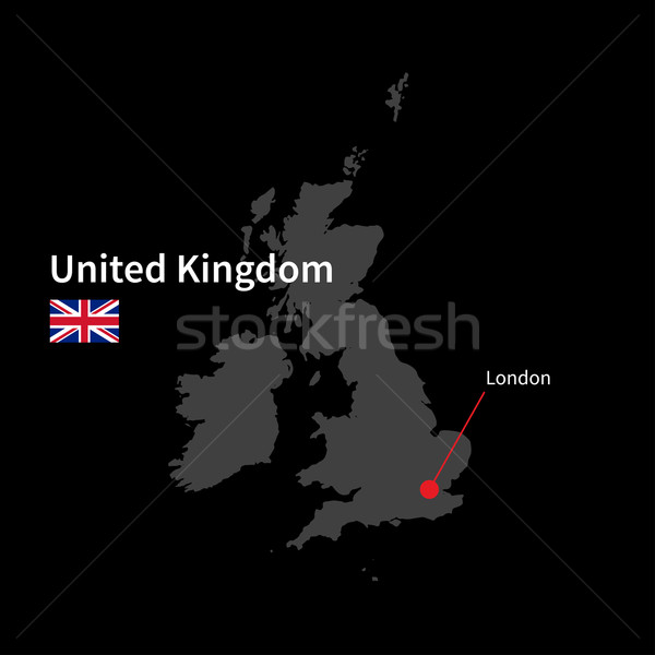 Gedetailleerd kaart Verenigd Koninkrijk stad Londen vlag Stockfoto © tkacchuk