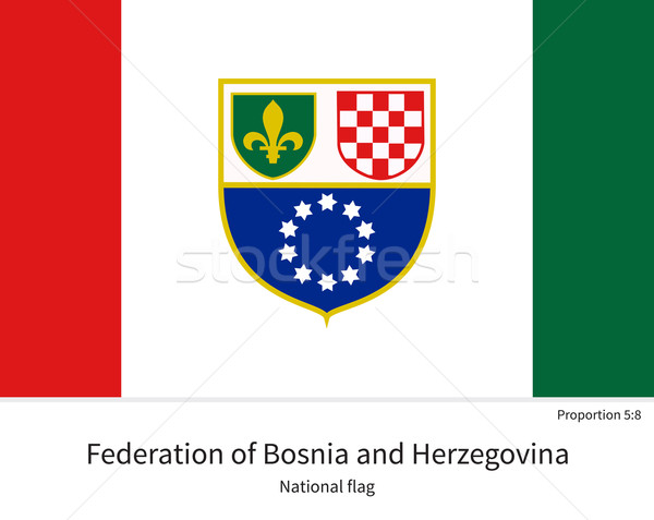 National flag of Bosnia and Herzegovina with correct proportions, element, colors Stock photo © tkacchuk