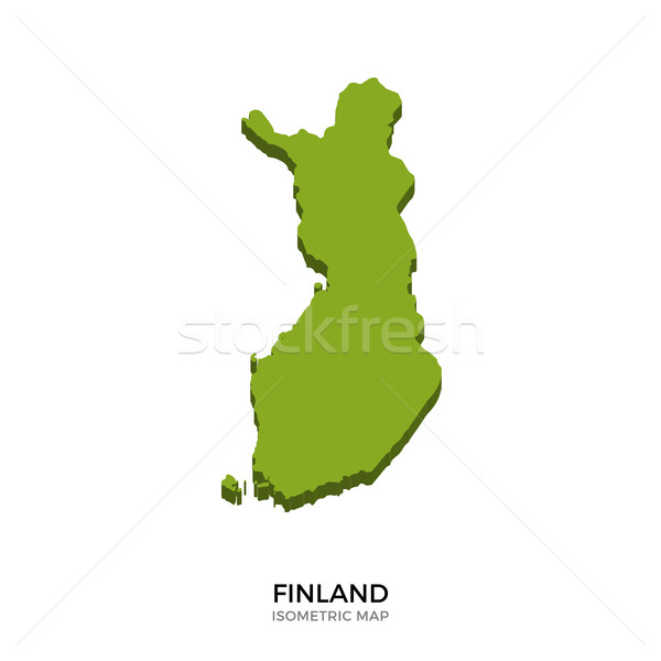 Isometric map of Finland detailed vector illustration Stock photo © tkacchuk