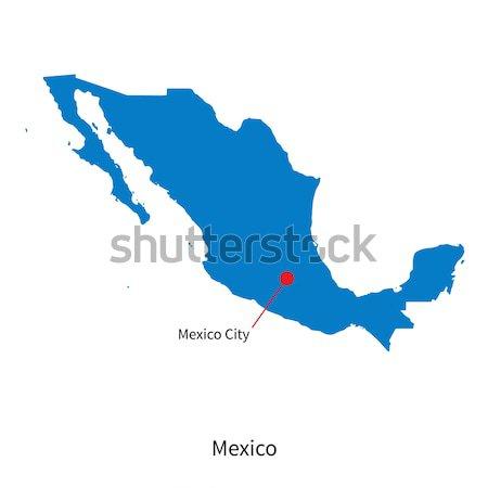 詳しい ベクトル 地図 メキシコ 市 教育 ストックフォト © tkacchuk