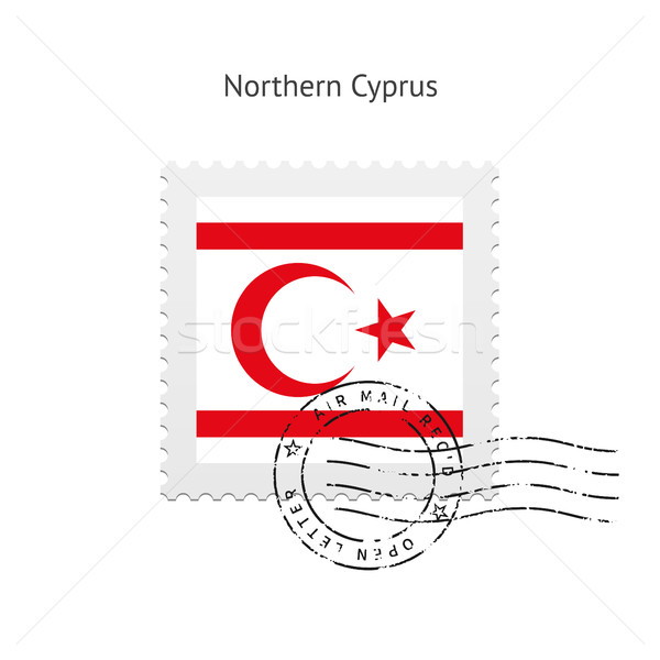 Northern Cyprus Flag Postage Stamp. Stock photo © tkacchuk