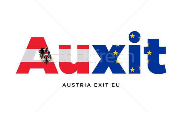 Salida europeo Unión referéndum vector aislado Foto stock © tkacchuk