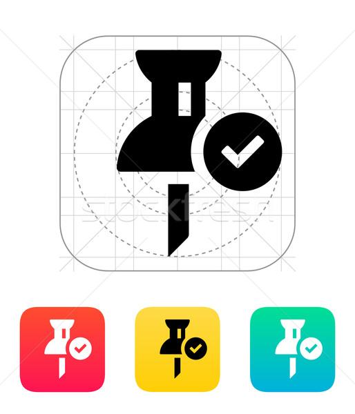 Mapping check pin icon. Stock photo © tkacchuk