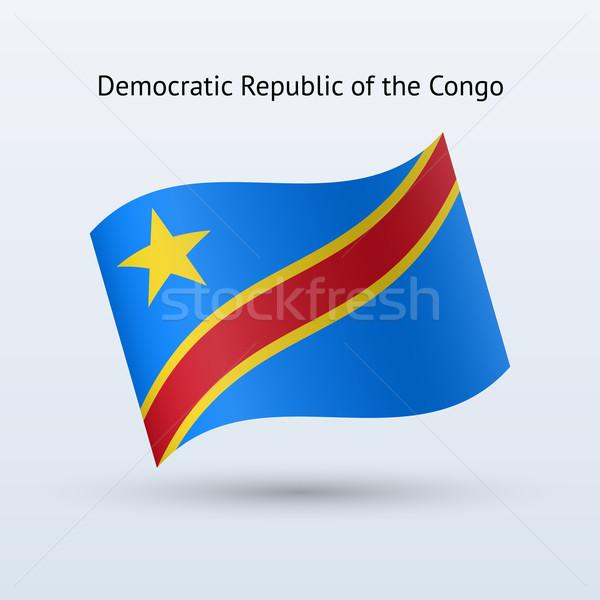 民主的な 共和国 コンゴ フラグ フォーム ストックフォト © tkacchuk