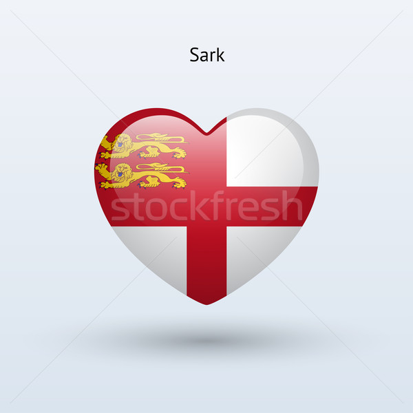 Love Sark symbol. Heart flag icon. Stock photo © tkacchuk