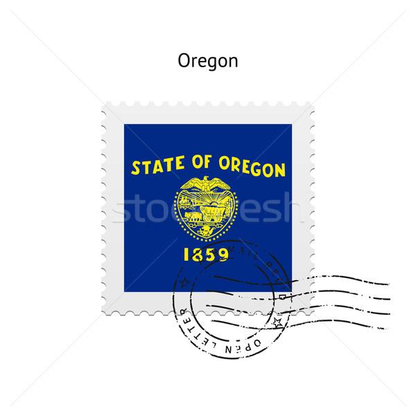 Oregon vlag witte teken brief Stockfoto © tkacchuk