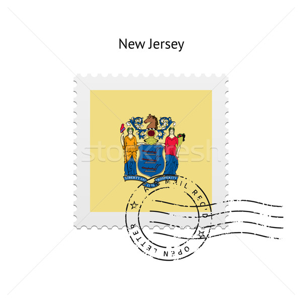 State of New Jersey flag postage stamp. Stock photo © tkacchuk