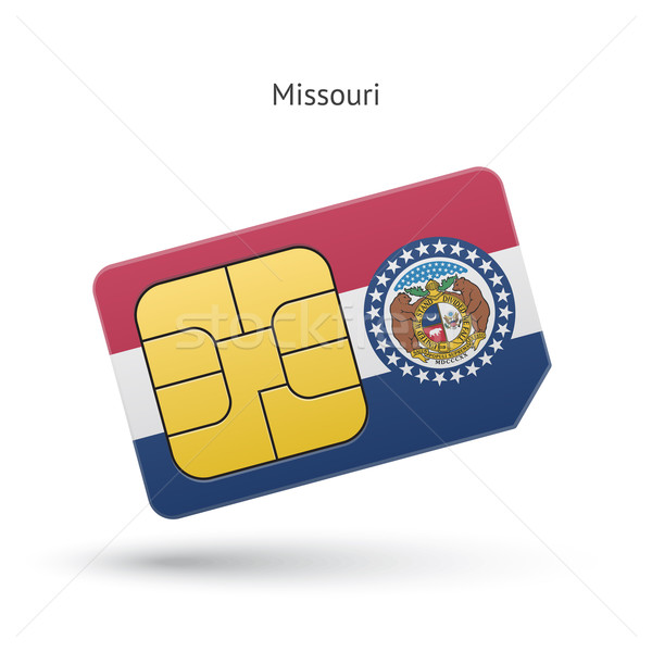 Missouri téléphone carte pavillon affaires technologie Photo stock © tkacchuk
