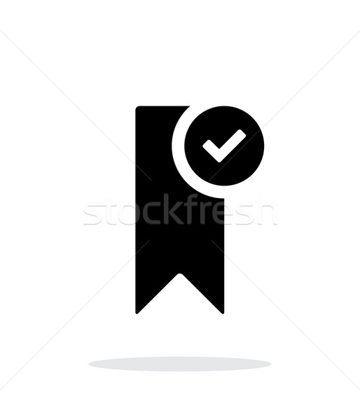 Check bookmark simple icon on white background. Stock photo © tkacchuk